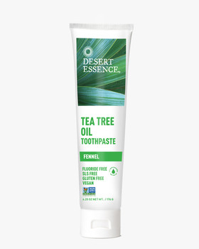 Desert Essence Tea Tree Oil Toothpaste with Baking Soda & Essential Oils - Fennel | 176 g
