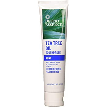 Desert Essence Tea Tree Oil Toothpaste with Baking Soda & Essential Oils - Mint | 176 g