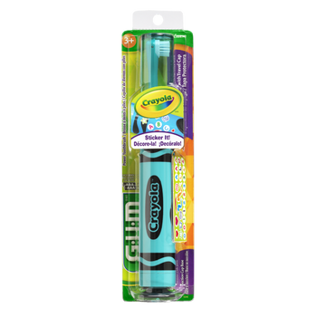 GUM Crayola Sticker It Electric Toothbrush