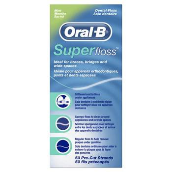 Oral-B Super floss Pre-Cut Strands - Mint| 50 pack