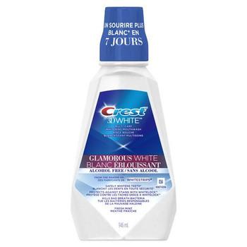 Crest 3D White Multi-Care Whitening Mouthwash - Glamorous White Fresh Mint | 946 ml