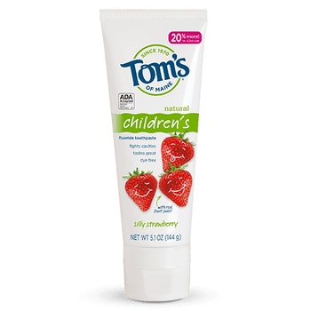 Tom's Children's Gentle Cleaning Toothpaste - Silly Strawberry | 90 ml