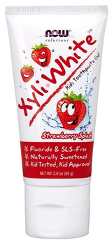 NOW Xyli-White Strawberry Splash Kids Toothpaste Gel | 85 g