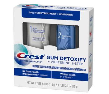 Crest Pro-Health Gum Detoxify Treatment + Whitening 2-Step | Step 1 (85ml) & Step 2 (63ml)