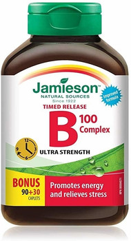 Jamieson B 100 Complex, Timed Release, Ultra Strength | 90 + 30 Caplets