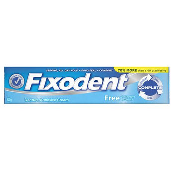 Fixodent Complete Denture Adhesive Cream - Flavour & Colour Free | 68 g