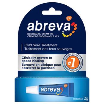 Abreva Cold Sore Treatment Cream - Docosanol Cream 10% | 2 g