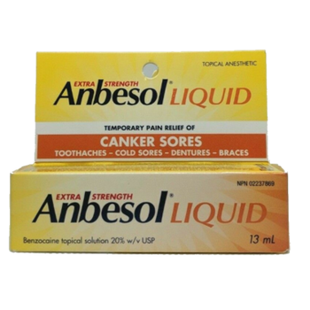 Anbesol Liquid Extra Strength Relief for Canker Sores | 13 ml