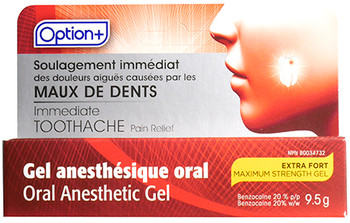 Option+ Extra Strength Immediate Toothache Pain Relief Oral Anesthetic Gel | 9.5 g