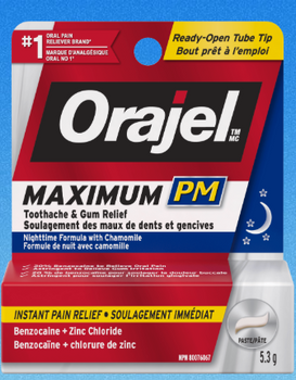 Orajel Maximum PM Toothache & Gum Relief - Nighttime Formula With Chamomile | 5.3 g
