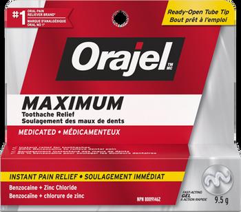 Orajel Maximum Strength Toothache Pain Relief Gel | 9.5 g