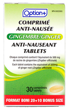 Option+ Ginger Anti-Nauseant Tablets | 30 Tablets