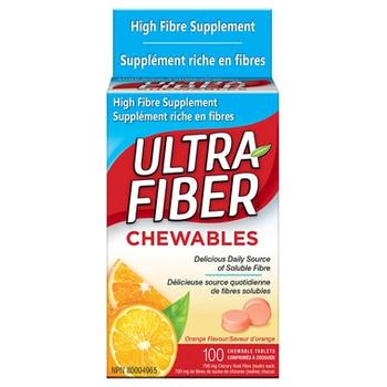 Ultra Fiber Chewable High Fibre Supplement Tablets | 100 Tablets