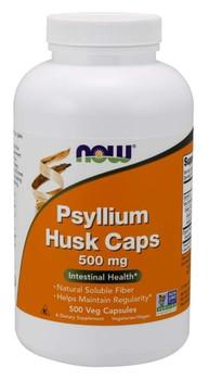 NOW Psyllium Husk 500 mg | 200 Capsules