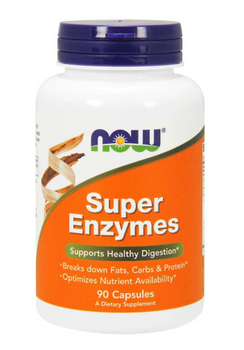 NOW Super Enzymes DIgestive Enzymes | 90 Capsules