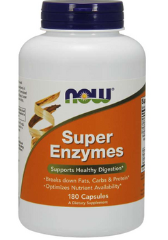 NOW Super Enzymes DIgestive Enzymes | 180 Capsules