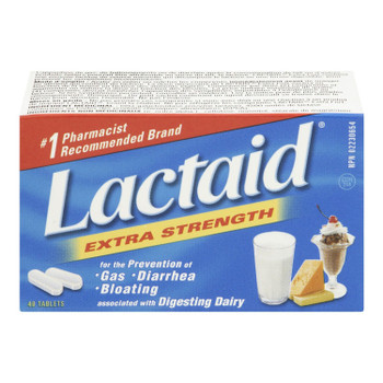 Lactaid Extra Strength Lactase Enzyme | 40 Tablets