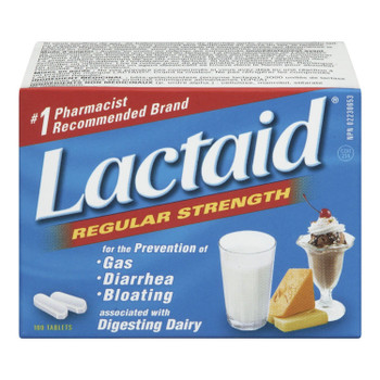 Lactaid Regular Strength Lactase Enzyme | 100 Tablets