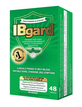 IBgard Individually Triple-Coated Sustained Release Capsules for Relief of Irritable Bowel Syndrome Symptoms | 48  Delayed-Release Capsules