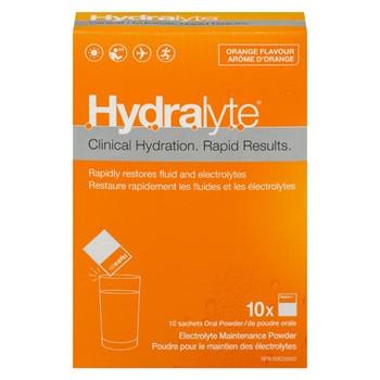 Hydralyte Clinical Hydration Electrolyte Maintenance Powder - Orange Flavour | 10 x 4.9 g