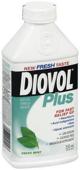 Diovol Plus Fresh Mint Antacid Liquid | 350 mL