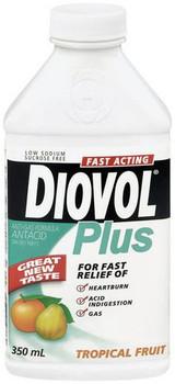 Diovol Plus Tropical Fruit Antacid Liquid   350 mL