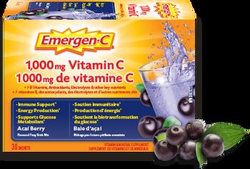 Emergen-C Vitamin C Berry Flavoured Fizzy Drink Mix | 30 Sachets