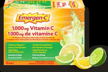 Emergen-C Vitamin C Lemon Lime Flavoured Fizzy Drink Mix | 30 Sachets