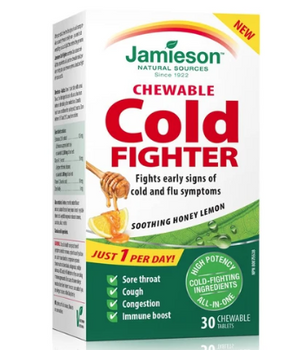 Jamieson Chewable Cold Fighter - Soothing Honey Lemon | 30 Tablets