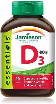 Jamieson Vitamin D3, 400 IU | 90 Tablets