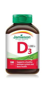 Jamieson-Vitamin D3, 1000 IU | 100 Tablets