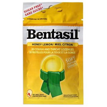 Bentasil Honey Lemon Throat Lozenges | 20 Count