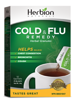 Herbion Naturals Cold & Flu Remedy Herbal Granules | 10 Sachets