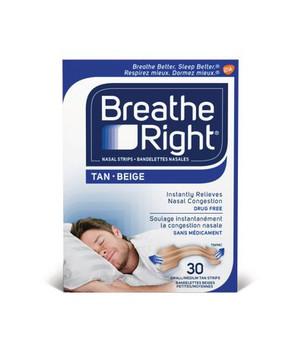 Breathe Right Tan Nasal Strips - Small/Medium   30 Strips