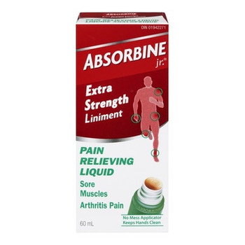 Absorbine Jr. Extra Strength Liniment Pain Relieving Liquid | 60 ml