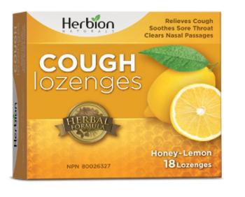 Herbion Naturals Cough Lozenges - Honey-Lemon | 18 Lozenges