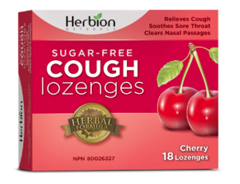 Herbion Naturals Sugar-Free Cough Lozenges - Cherry | 18 Lozenges