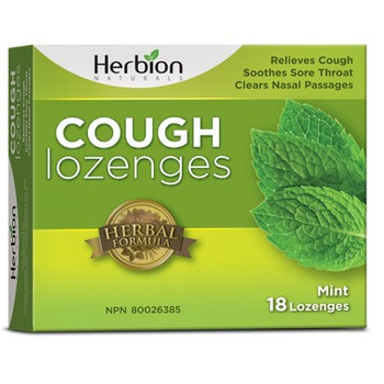 Herbion Naturals  Cough Lozenges - Mint | 18 Lozenges