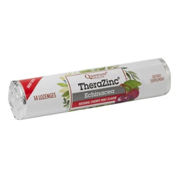 Quantum Health TheraZinc Echinacea Lozenges - Natural Cherry-Mint   14 Lozenges
