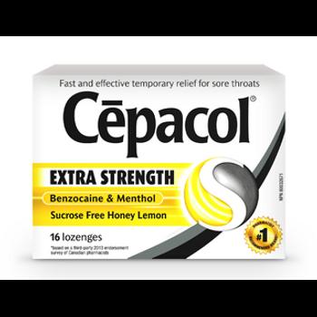 Cepacol Extra Strength Honey Lemon Lozenges | 16 Lozenges