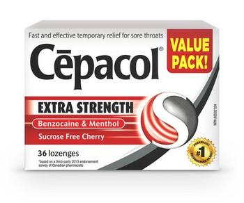 Cepacol Extra Strength Cherry Lozenges | 36 Lozenges