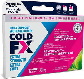 Cold-FX Extra Strength Cough & Cold Relief Capsules | 12 Capsules