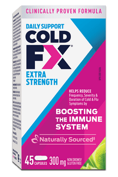 Cold-FX Extra Strength Daily Support Cough & Cold Capsules | 45 Capsules