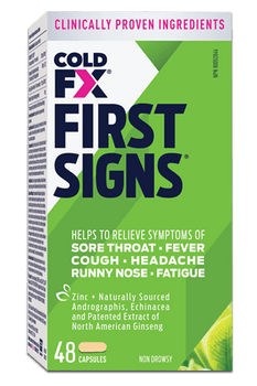 Cold-FX First Signs Cough & Cold Capsules | 48 Capsules