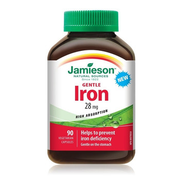 Jamieson Gentle Iron, 28mg | 90 Vegetarian Capsules