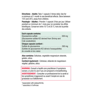 Jamieson Glucosamine, 500mg | 360 Capsules