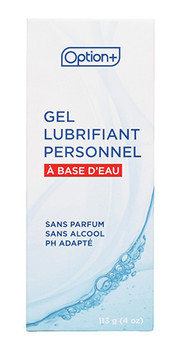 Option+ Water Based Personal Lubricating Gel | 113 g
