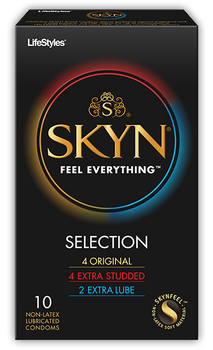 SKYN Selection Variety Pack of Natural Latex Free Lubricated Condoms | 10 count
