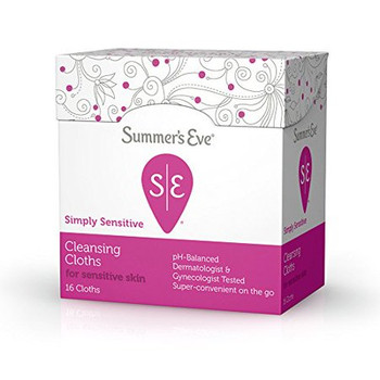 Summer's Eve Simply Sensitive Cleansing Cloths | 16 On-The-Go Cloths