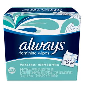 Always Fresh & Clean Feminine Wipes | 20 Wipes